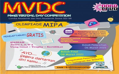 Pengumuman Hasil Olimpiade MIPA M10si Virtual Day Competition Tahun 2021