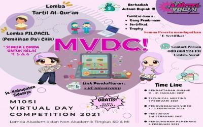M10SI VIRTUAL DAY COMPETITION 2021 siswa SD/MI se-Kabupaten Sidoarjo